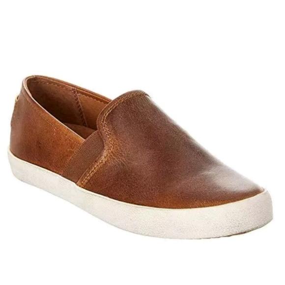New Frye Dylan Cognac Leather Slip On